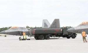 US Air Force F-22s Make First Landing at Fort Drum Airfield for Rapid Refueling Operation