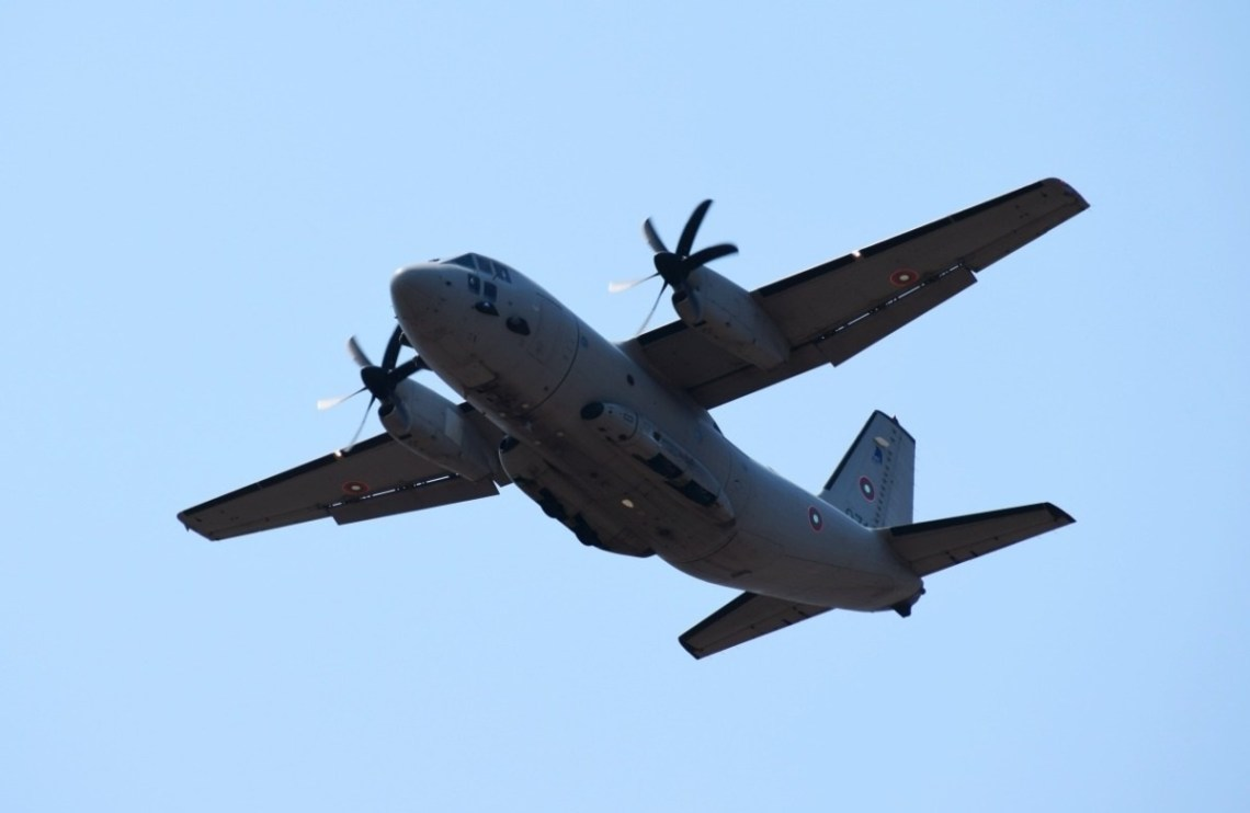 Bulgarian C-27 air transport practices low-level tactical flights during Ex Thracian Summer.