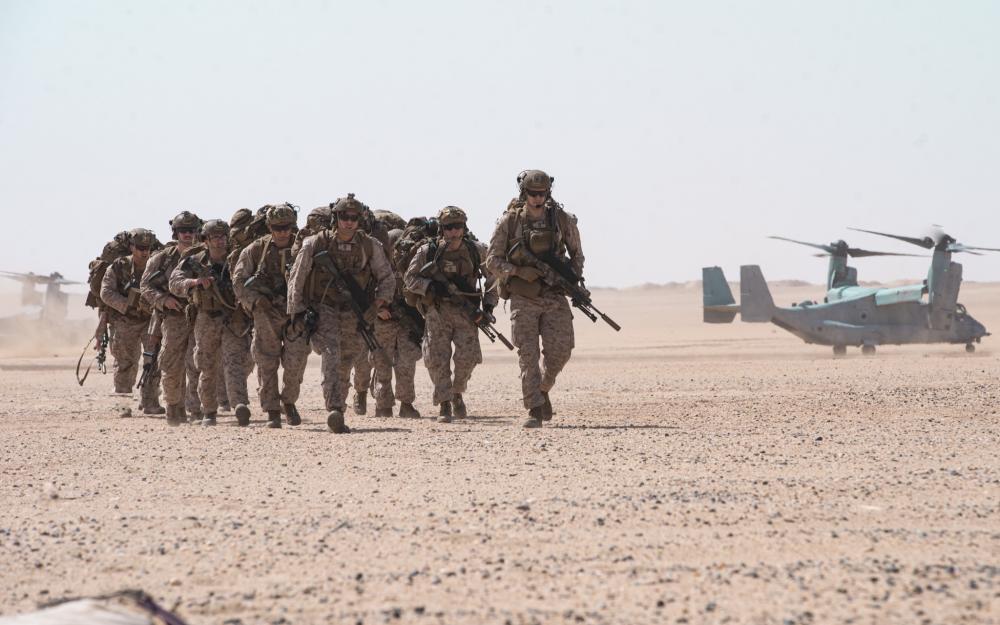 US Navy Essex Amphibious Ready Group (ARG) Conduct Kuwait Training