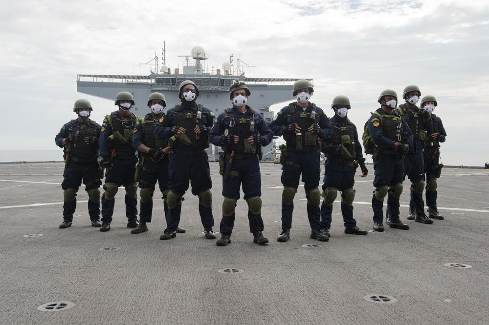 "US Navy USS Hershel ""Woody"" Williams Participates in Brazilian Exercise off Africa's Atlantic Coast"