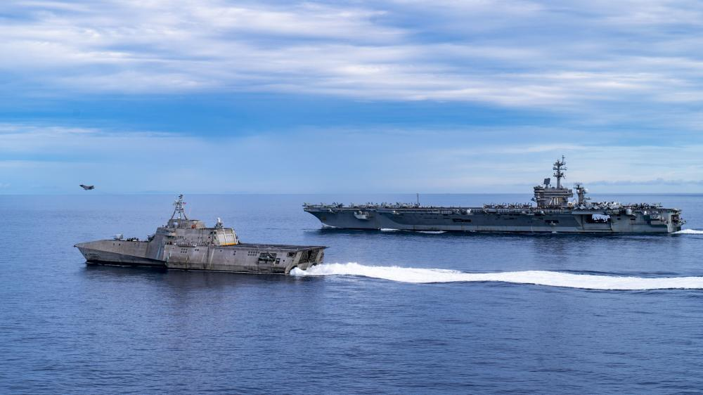 US Navy USS Tulsa Operates with Carl Vinson Carrier Strike Group (VINCSG) in South China Sea