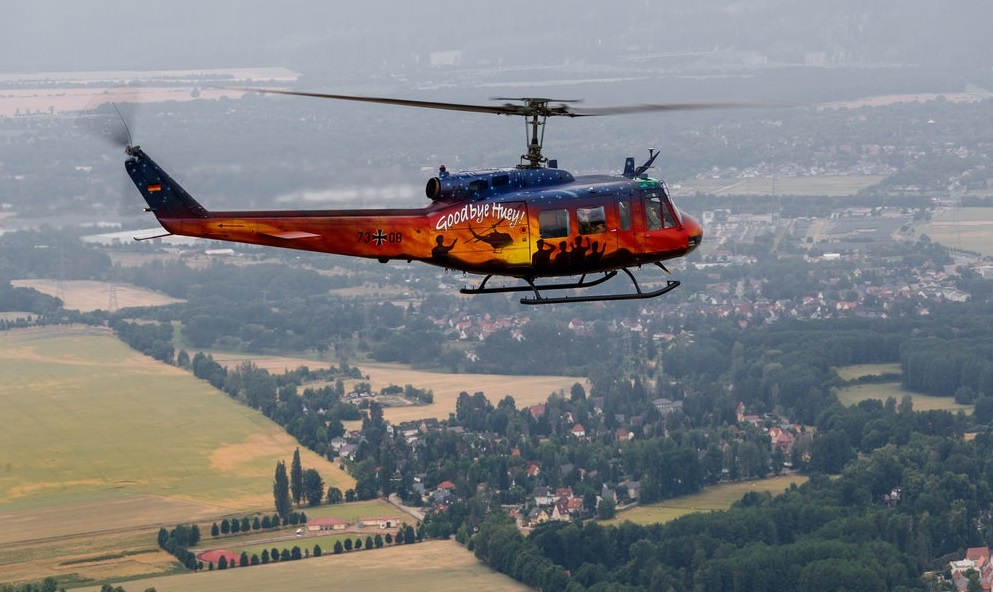 """German Armed Forces Retired Bell UH-1 Iroquois """"Huey"""" After 53 Years of Service"""