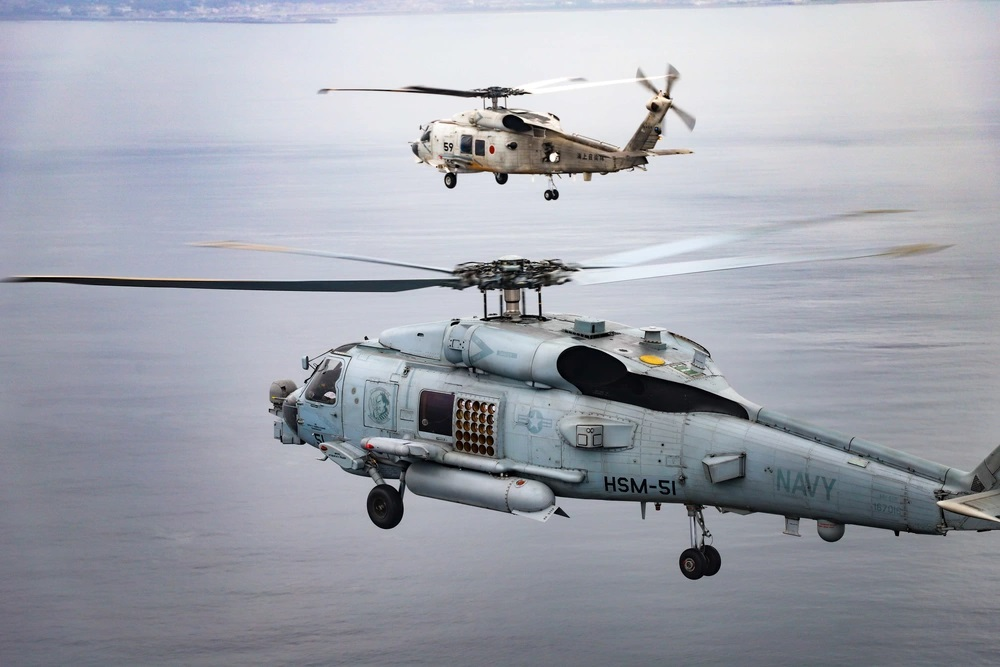 US Navy and Japan Maritime Self-Defense Force Helicopter Squadrons Conduct Bi-lateral Exercises