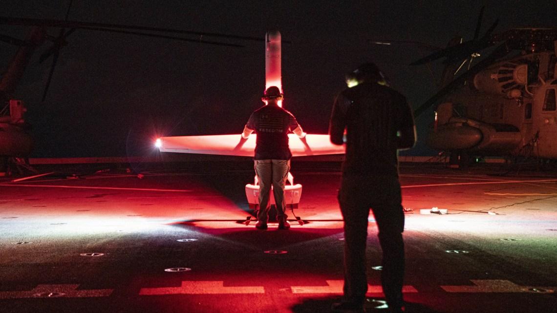 V-BAT Takes Flight with 11th Marine Expeditionary Unit Aboard US Navy USS Portland