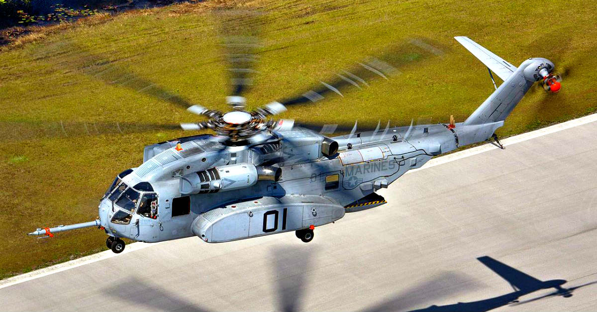CH-53K King Stallion Hovering