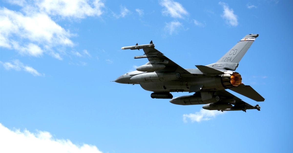 F-16 Falcon Departs
