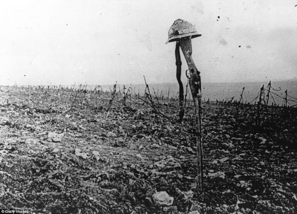 No Man's Land Between the Trenches of WWI