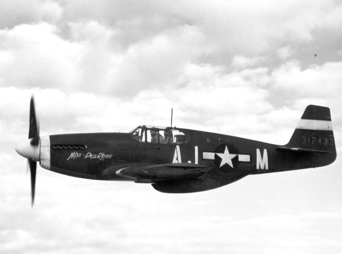 A USAF Mustang in Flight P-51 Mustang Facts