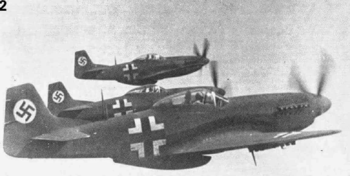 Captured P-51 Mustangs in Luftwaffe Livery