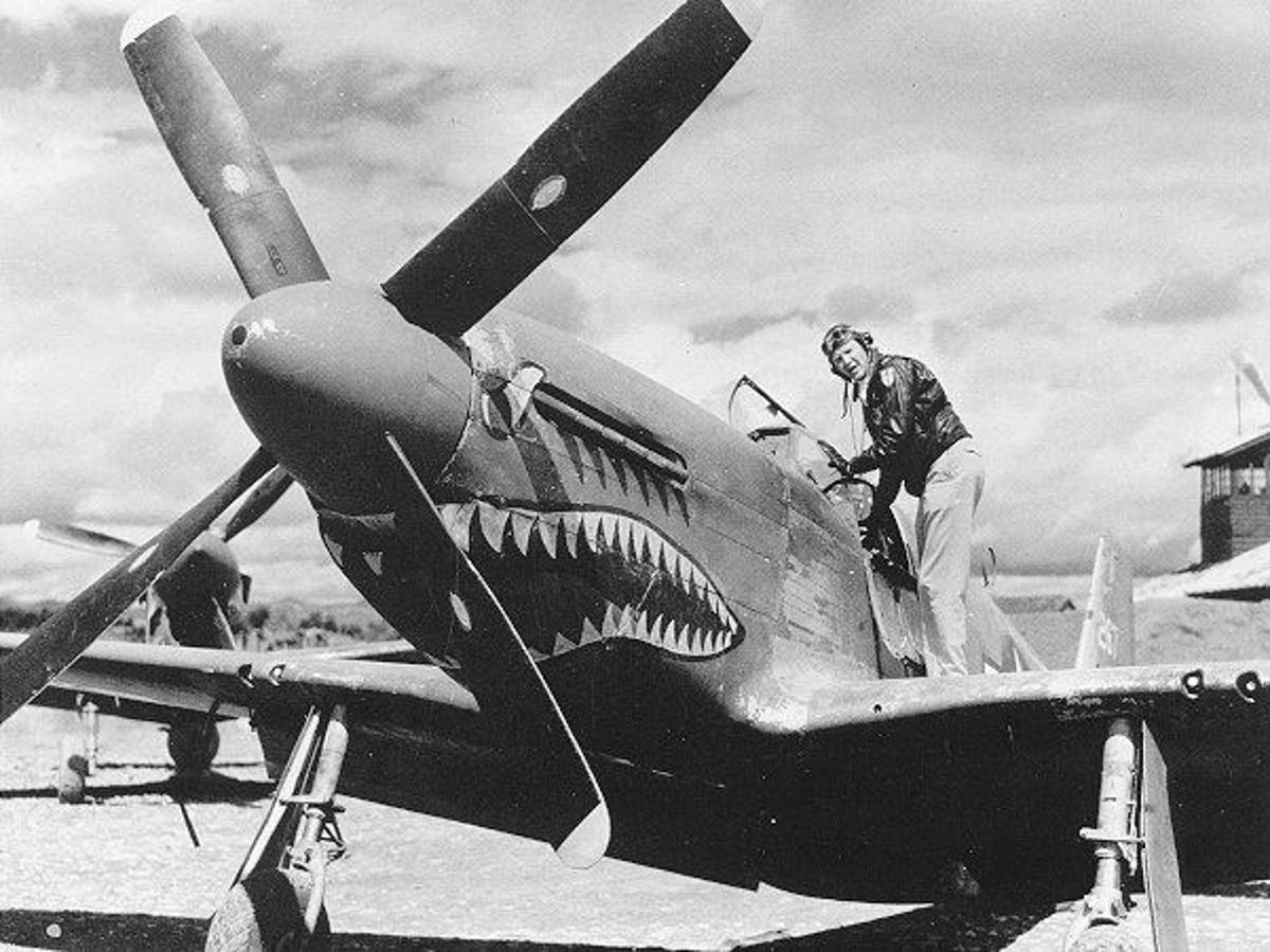A USAAF Ace with his Mustang