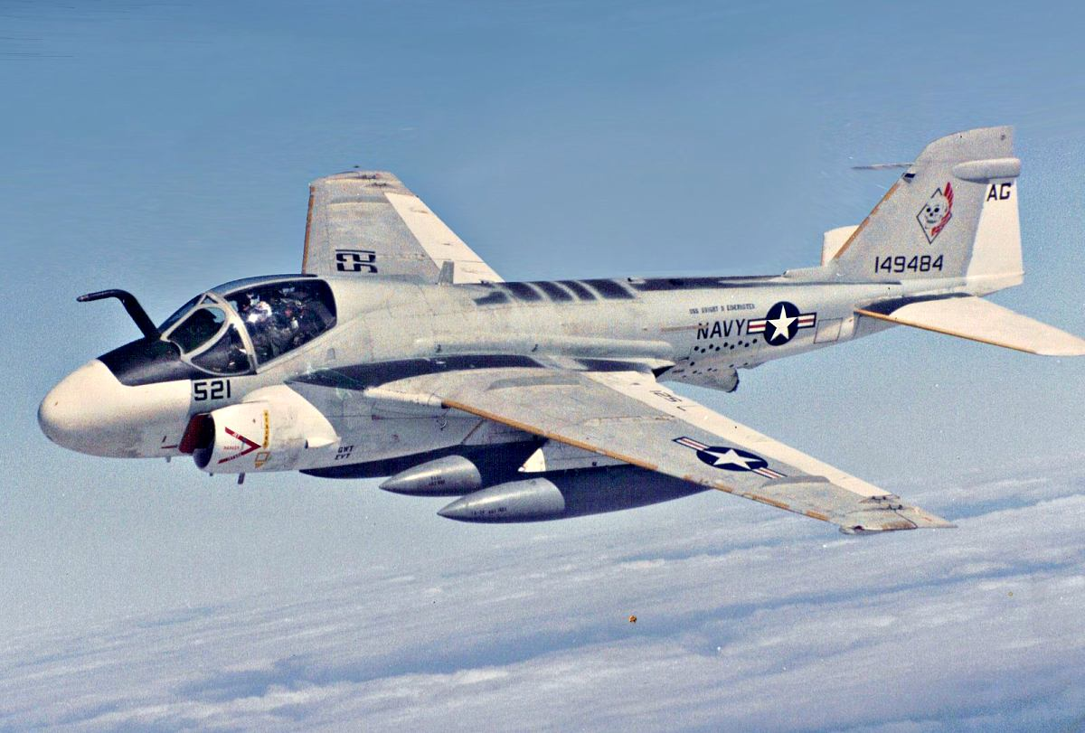A-6 Intruder in flight