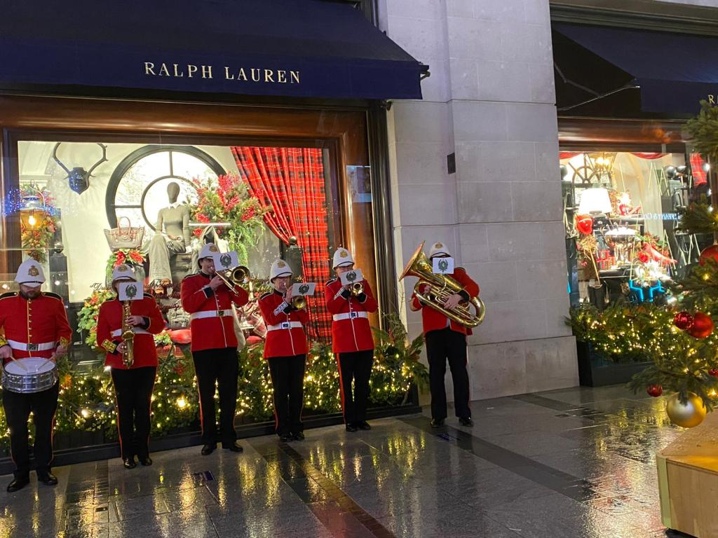 Military Band for Christmas Shopping Events in London