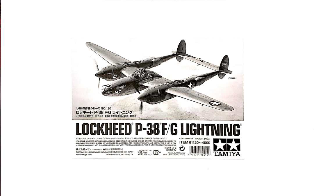 """Tamiya's """"White Box"""" 1/48 P-38F/G – First Thoughts, Part 1"""