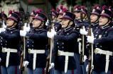 Allievi del corso Turinetto II al momento del giuramento - canto dell'Inno d'Italia
