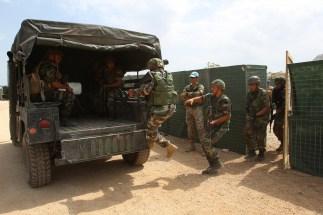 Squadra delle LAF nell'esfiltrazione al termine dell'operazione