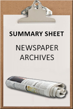 SUMMARY SHEET - Newspaper Archives