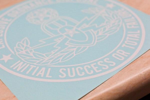 Master EOD Initial Success or Total Failure vinyl decal