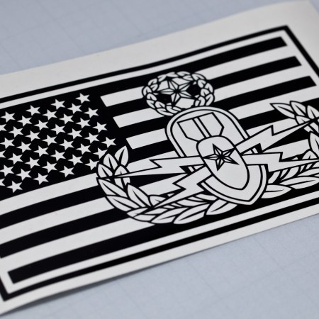EOD Master and US Flag Vinyl Decal