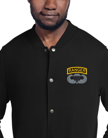Airborne Ranger Bomber Jacket black