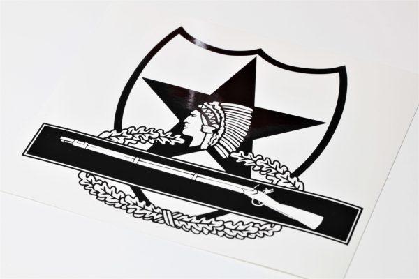 2nd infantry cib vinyl decal