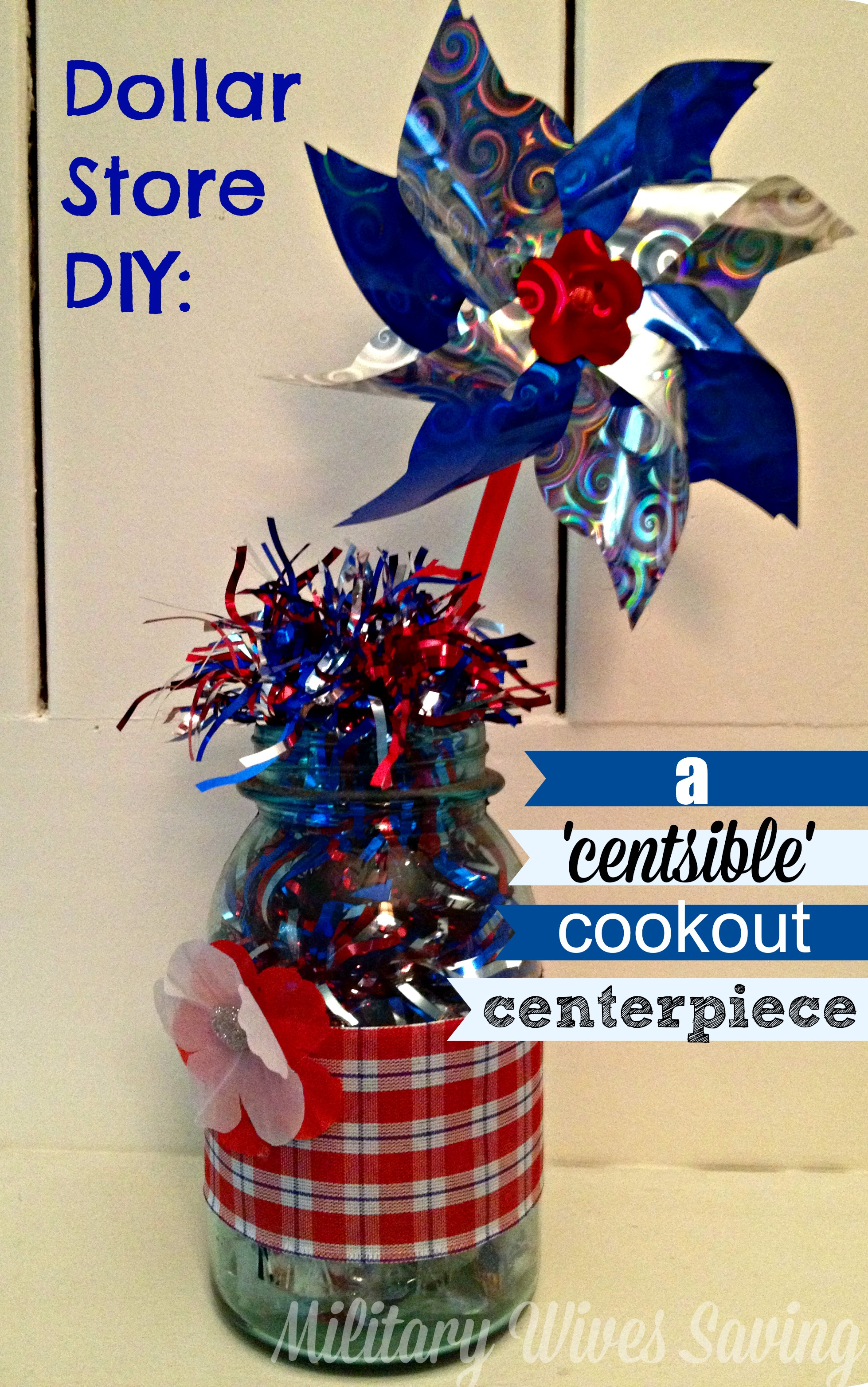 Dollar Store DIY Craft A Centsible Cookout Centerpiece