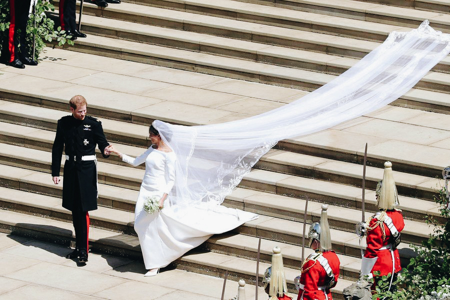 Happy newlyweds, the Duke and Duchess of Sussex © BBC