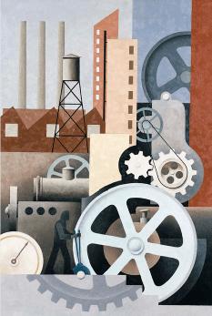 Machinery (Abstract #2), 1933-34, Paul Kelpe