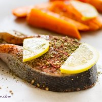 Middle Eastern Salmon steaks