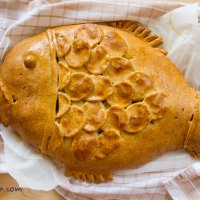 Siberian fish pie