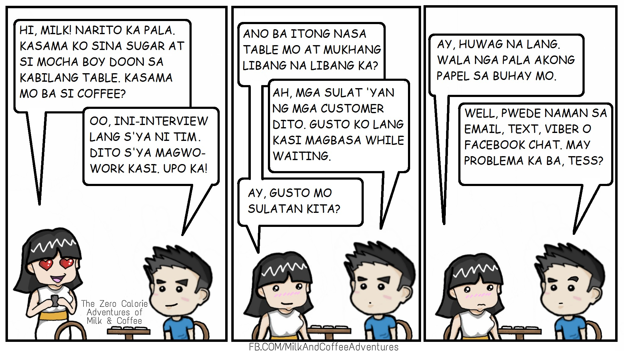 Komiks Page 7 The Zero Calorie Milk Amp Coffee Adventures
