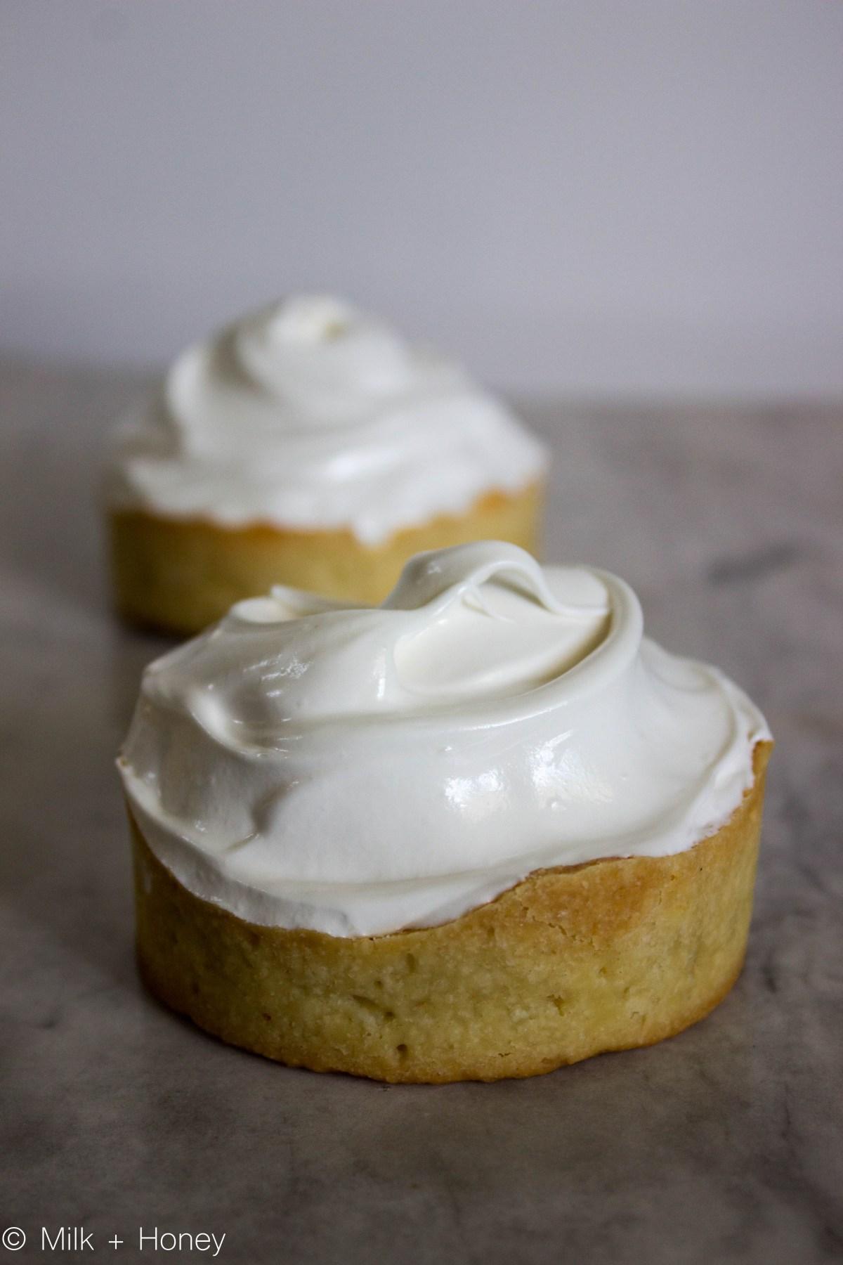 Lemon Meringue Pie. The untouched meringue