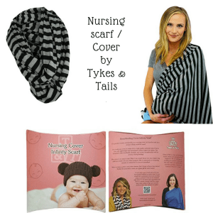 A multi-use Nursing cover that can help you with breastfeeding through the holidays