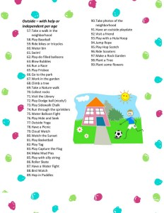 List of 99 Fun Screen Free Activities for Kids!