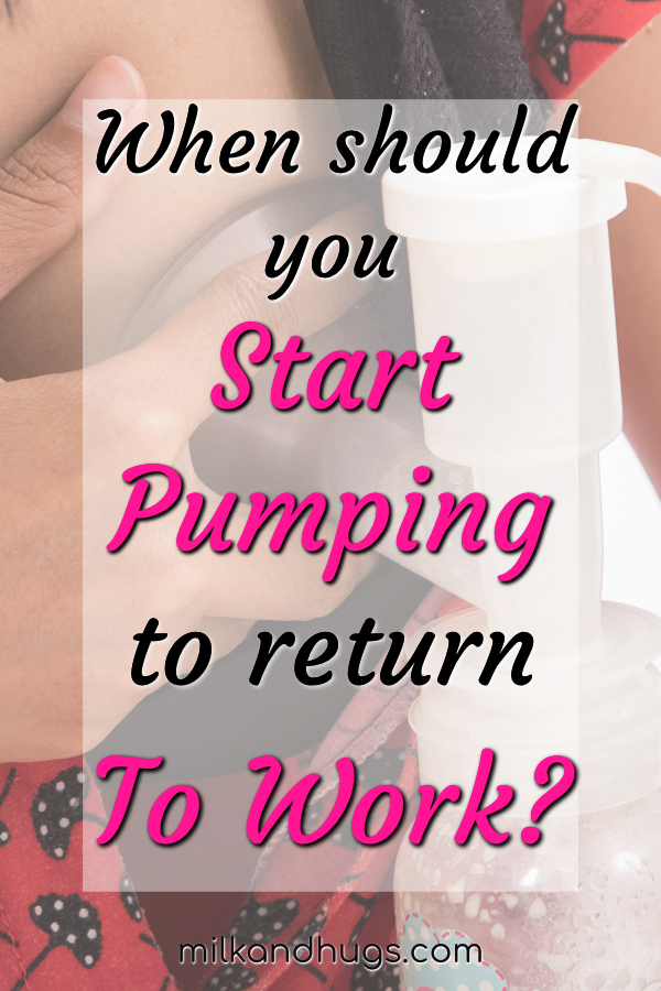 When should you start #pumping #breastmilk if you plan to return to work? #Breastfeeding