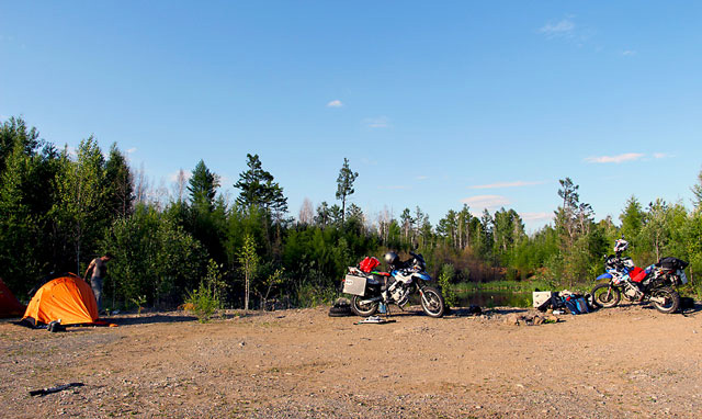 motorcycle camp site russia