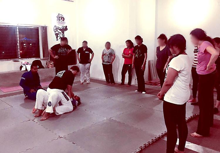 Ayesha's women's self defense seminar in Dhaka