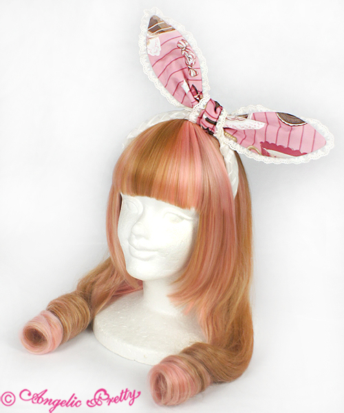 Angelic Pretty Cream Cookie Parade Headbow Pink