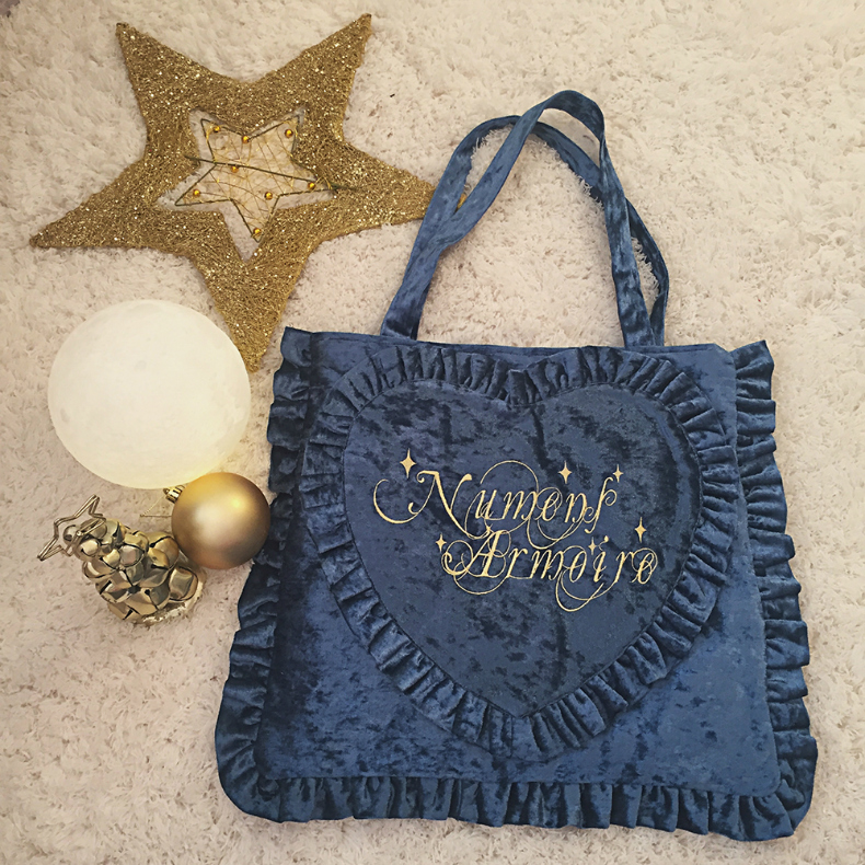 Elf Armoire Numens Armorie Miracle Island Velvet Pillow Bag Navy