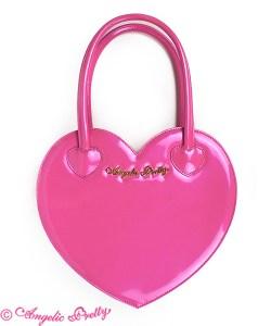 Angelic Pretty Love Heart Logo Dark Pink