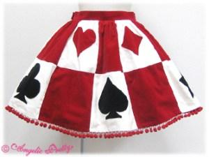 Angelic Pretty Queen Trump Skirt Red