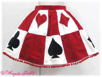 Angelic Pretty Queen Trump Skirt Red
