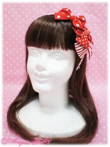 Angelic Pretty Triple A La Carte Mini Ribbon Head Bow Red
