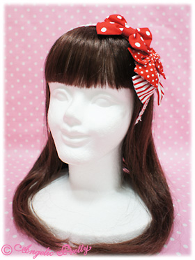 Angelic Pretty Triple A La Carte Mini Ribbon Head Bow Red