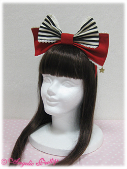 Angelic Pretty Carnival Stripe Headbow Red