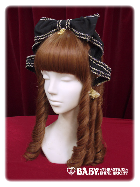 Alice and the Pirates Crown Tassel Headbow Black