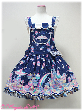 Angelic Pretty Milky Planet Salopette Navy