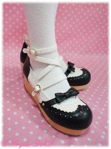 Angelic Pretty Academy Shoes Black x White