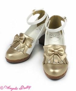 Angelic Pretty British Tassel Shoes in Gold