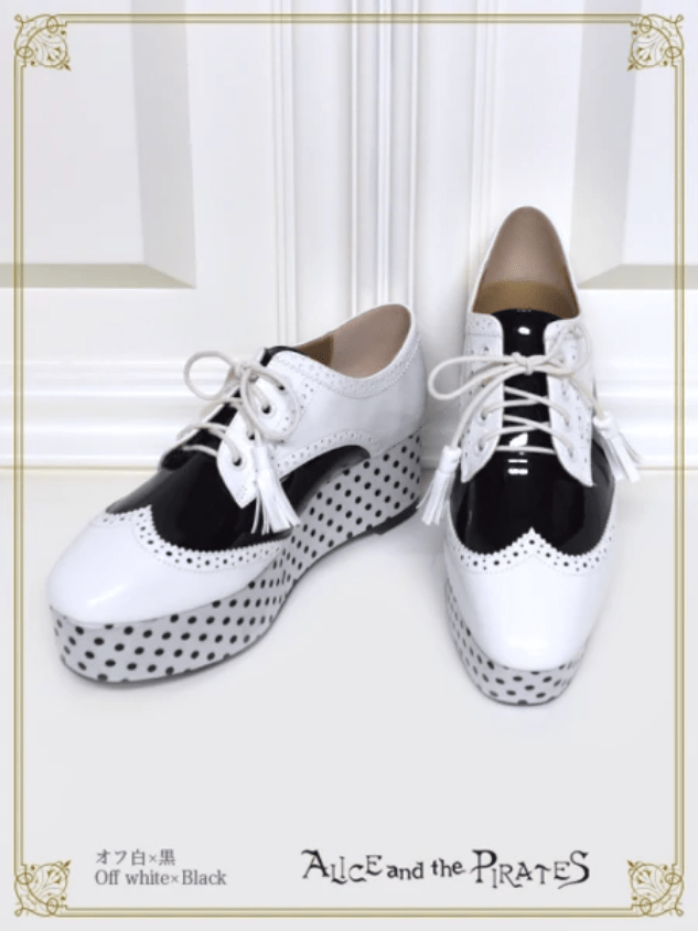 Alice and the Pirates Alvin Dot Shoes Offwhite x Black
