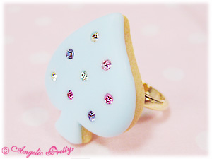 Angelic Pretty Spade Cookie Ring Sax